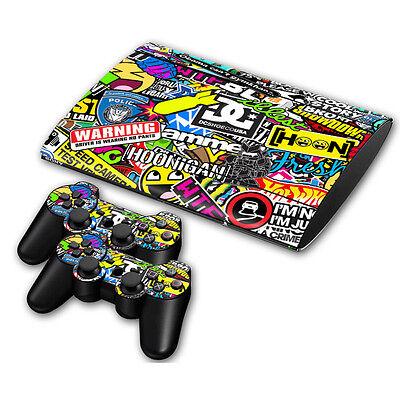 PS3 PlayStation 3 Super Slim Skin Design Aufkleber Schutzfolie Set - Hoonigan