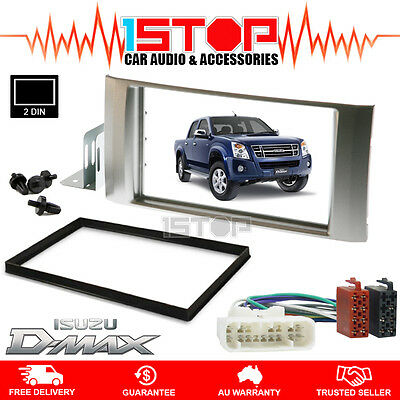 isuzu d max dmax ls 08 12 double din facia fascia panel kit iso isuzu d max dmax ls 08 12 double din facia fascia panel kit