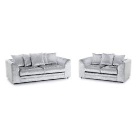 Brand New Crushed Velvet Corner&3+2 Sofa
