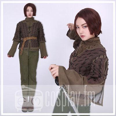 Game of Thrones Arya Stark Handmade Cosplay Costume Garment (Arya Game Of Thrones Costume)