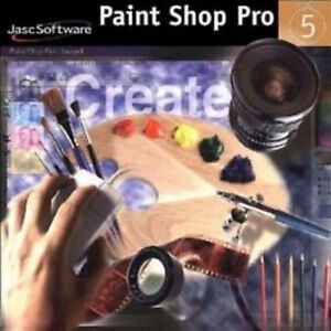 VINTAGE PAINT SHOP PRO 5 - PC CD & ALL MANUALS