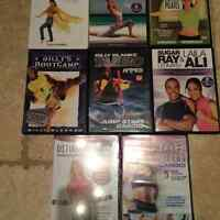 8 exercise DVDs - some still in packaging