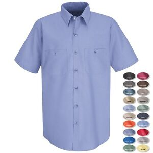 Men 39 s lightweight industrial wicking soil release work for Size 5x mens dress shirts