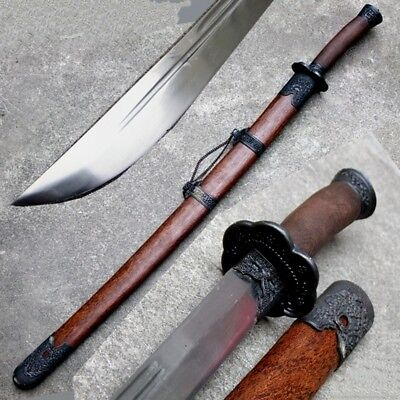Chinese Martial arts KUNG-FU Broadsword sword High Carbon Steel Blade sharp #557