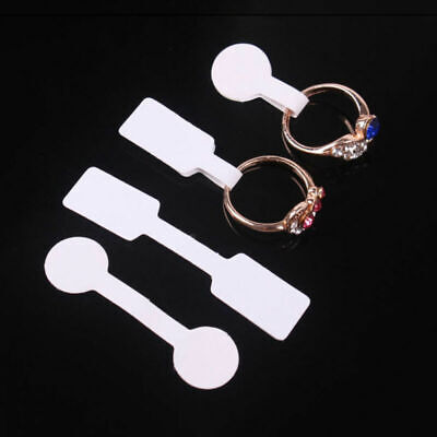 100pcsbag Blank Price Tags Necklace Ring Jewelry Labels Paper Stickers Label