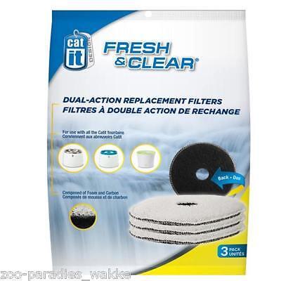 3er Catit Ersatzfilter für Trinkbrunnen FRESH & CLEAR ... Filter Art. # 50057