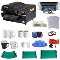 3D Sublimation Vacuum Machine Mug Printer CISS Paper Bundle