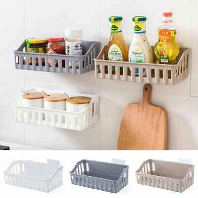 US Bathroom Kitchen Shelf Suction Cup Rack Organizer Storage Shower Wall Basket