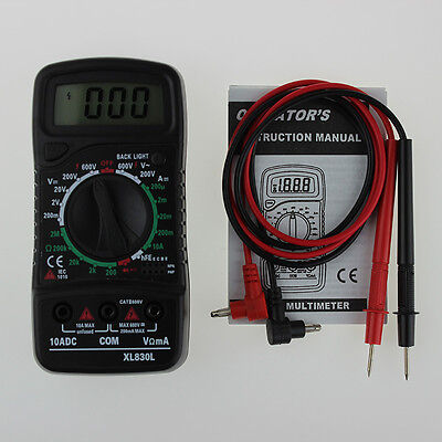 Digital Xl-830l Electric Lcd Multimeter Voltmeter Ammeter Acdcohm Volt Black