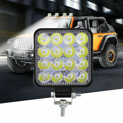 48W 16LED Work Light Flood Beam Bar Car ATV Off-Road Driving Fog Lamps 12V 24V