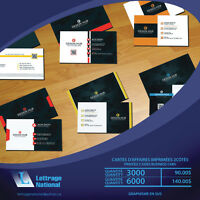 CARTES D'AFFAIRES IMPRIMÉE / PRINTED BUSINNESS CARDS