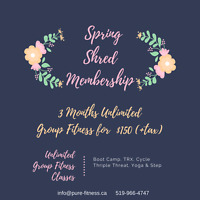 Pure Fitness Spring Group Fitness Membership
