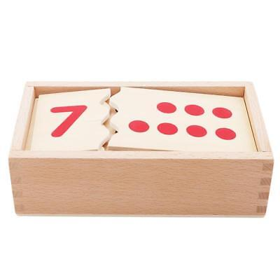Preschool Montessori Math Number Puzzle for Kids Early Learn Education Toy J