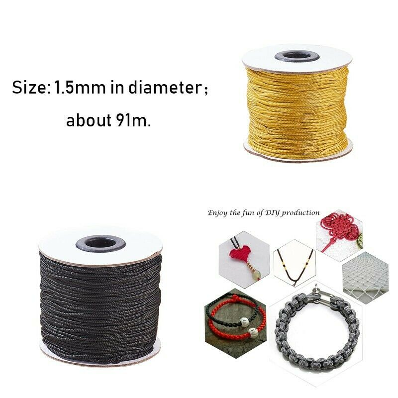 91m 1.5mm Nylon Braided Lift Shade Cord for Blind Shade Mini
