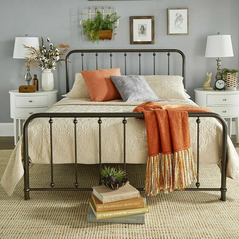queen size bed frame farm french country