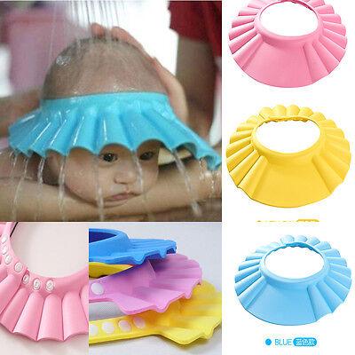 Baby Children Kids Safe Shampoo Bath Bathing Shower Cap Hat Wash Hair Shield