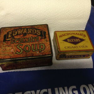 ASSORTED VINTAGE ADVERTISING TINS & BOXES - PARKER PICKERS -
