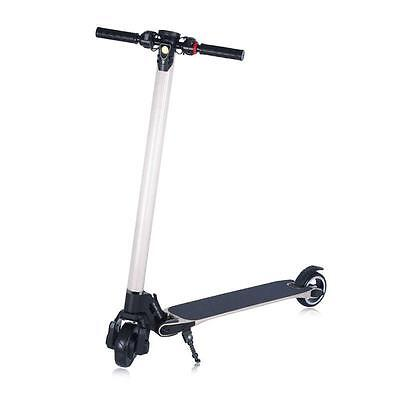 NEW ELECTRIC SCOOTER FOR ADULTS 2ND GENERATION CARBON FIBER WHITE Battery 10.4Ah