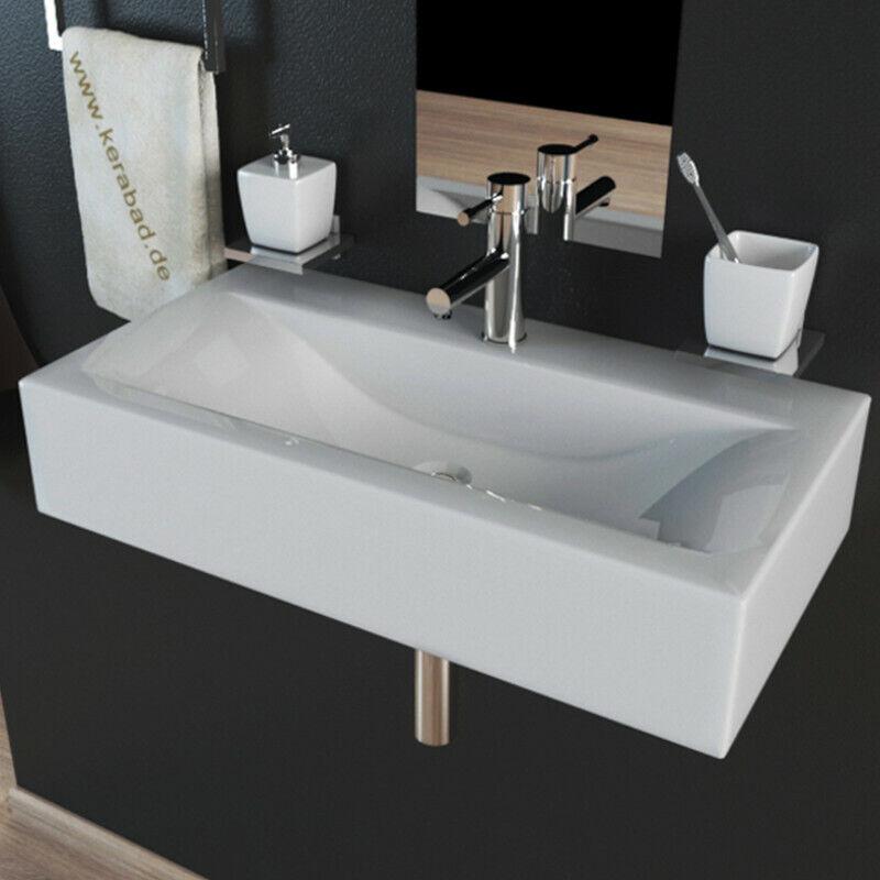 Design Keramik Handwaschbecken Waschbecken Waschtisch Gäste WC 45x30x10cm KBW153