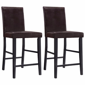 Oakley Faux Leather Parson's Counter Height Chair - Pair -, New