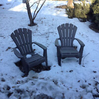 Resin Adirondack Chairs Two for $55