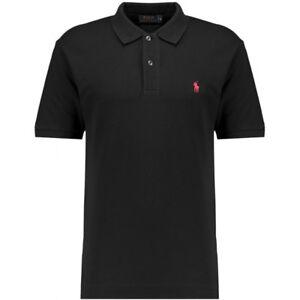 New Polo Sport Ralph Lauren Men Short Sleeved Polo Shirt Black L