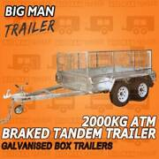 10x5 Dual Axle Galvanised Trailer Cage White Wheel Hot Dip Braked Dandenong South Greater Dandenong Preview