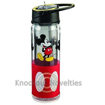 Disney Mickey Mouse 18 Oz. Tritan Water Bottle Funny Novelty Drink Holder