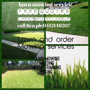 Lawn mowing and maintenance services