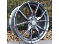 "x4 19"" Ford Rs Style Alloys 5x108 ET45 8J Focus St RS Mondeo Kuga Satin Gunmetal"