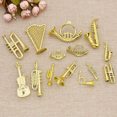 Christmas Tree Hanging Ornament Mini Musical Instrument Party Xmas Decor 10pcs ()