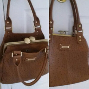 Brown Purse Faux Leather  - New Price
