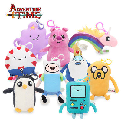 Adventure Time Plush Soft Stuffed Doll With Keychain Ice King Lumpy Mr Pig - King Pig