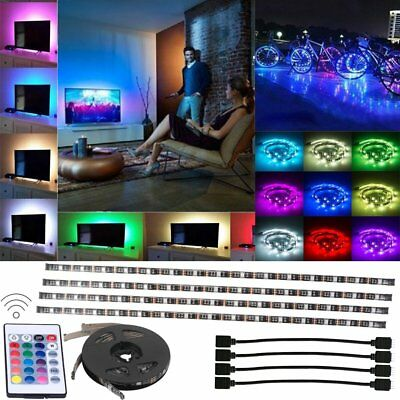 LED Home Theater TV BackLight Accent Back Lighting Kit Bias Multi-Color Strip BT - Home Theater Led Lighting