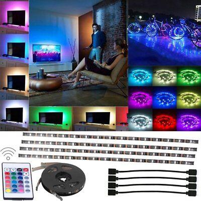 (LED Home Theater TV BackLight Accent Back Lighting Kit Bias Multi-Color Strip BT)