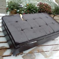 leather coffee table with storage unit