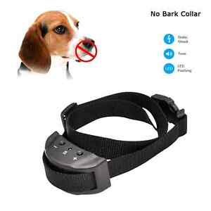 Bark collar with warning sound and shock fits small to large dog