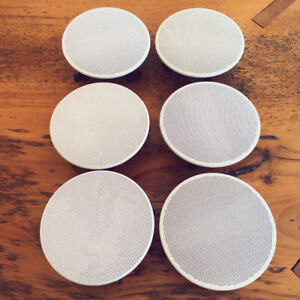 Set of 6 Pyle In Ceiling Speakers With Covers