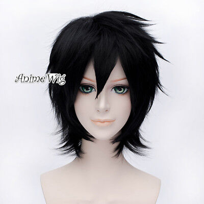 Anime for Bleach Ulquiorra Schiffer Black Short Layered Halloween Cosplay Wig