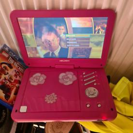 BUSH pink portable dvd player As a swivel screen