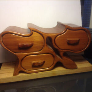 Antiques Handcrafted Wood Bandsaw Jewelry Watch Box