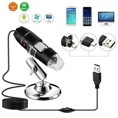 1600x 8 Led Usb Zoom Digital Microscope Hand Held Magnifier Biological Endoscope