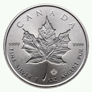 Silver Maple leaf double Incuse argent 2018 (.9999) 1 oz