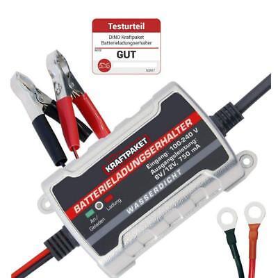 Dino Kraftpaket 750mAh 6/12V Auto Batterie Ladegerät Mobil Erhaltungsladegerät Mobile Batterie Pack