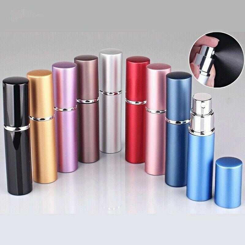 7Pcs Travel Portable Refillable Perfume Scent Atomizer Empty Spray Bottle 6ml