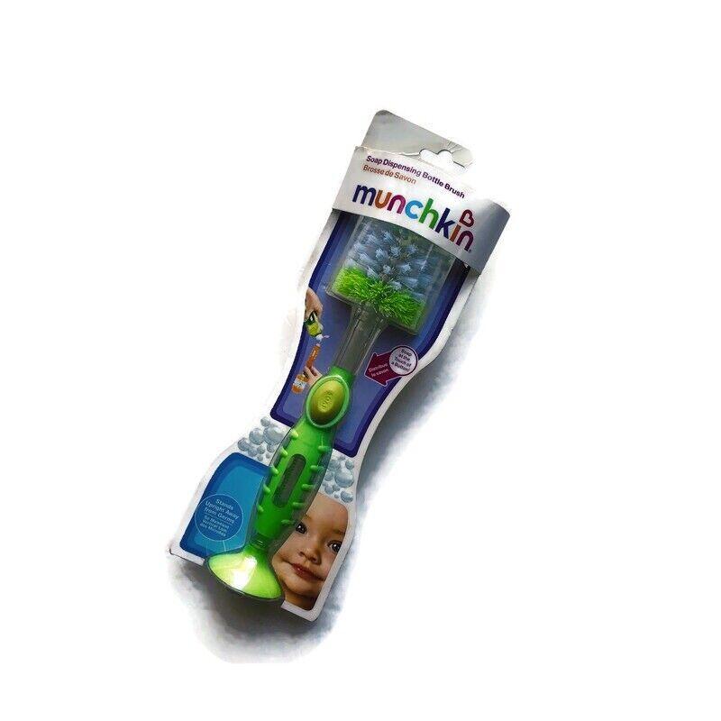 NEW Munchkin Green Soap Dispensing Bottle Brush