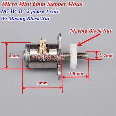 Dc 3v-5v Micro 6mm Stepper Motor Linear Actuator Screw Moving Slider Block Nut