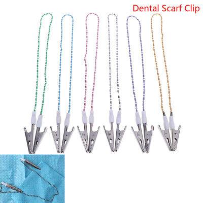 Dental Bib Clip Scarf Clip Napkin Holders Dental Aprons Pad Bib Clip Beads Cisq