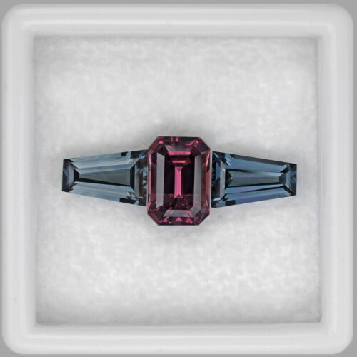 2.55cts FANTASTIC EMERALD CUT AND TAPERED BAGUETTE SPINEL RING SET WATCH VIDEO