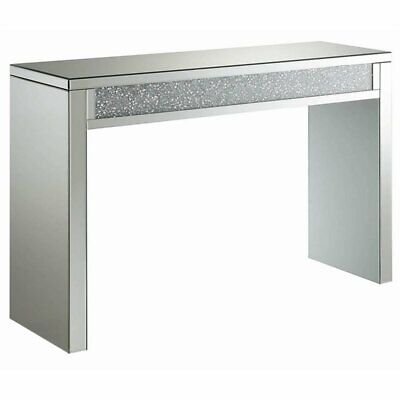 Coaster Mirrored Accent Console Table in Silver